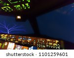 airplane was hit by thunder... | Shutterstock . vector #1101259601
