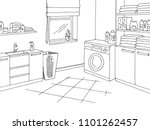 laundry room home interior... | Shutterstock .eps vector #1101262457