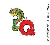 english letter q. question mark.... | Shutterstock .eps vector #1101262577