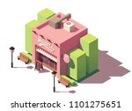 vector isometric sweets shop or ... | Shutterstock .eps vector #1101275651