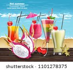 summer cocktail drinks vector... | Shutterstock .eps vector #1101278375