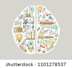 cartoon left and right brain... | Shutterstock .eps vector #1101278537