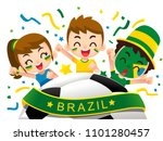 vector illustration of brazil... | Shutterstock .eps vector #1101280457