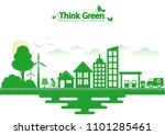 ecology connection  concept... | Shutterstock .eps vector #1101285461