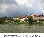 regensburg city line before the ... | Shutterstock . vector #1101290597