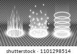 teleport light effects vector... | Shutterstock .eps vector #1101298514