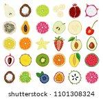 set of fresh hand drawn...   Shutterstock . vector #1101308324