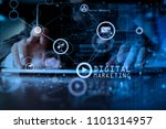 digital marketing media ... | Shutterstock . vector #1101314957