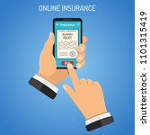 concepts online insurance... | Shutterstock .eps vector #1101315419