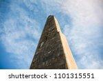 old stone obelisk from red... | Shutterstock . vector #1101315551