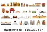 building landmarks and travel... | Shutterstock .eps vector #1101317567
