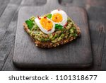 wholegrain toast bread with... | Shutterstock . vector #1101318677