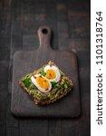 wholegrain toast bread with... | Shutterstock . vector #1101318764