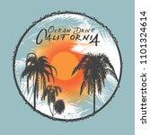 vector illustration tropical... | Shutterstock .eps vector #1101324614