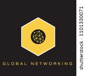 global networking icon | Shutterstock .eps vector #1101330071