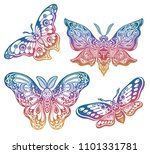 a collection of butterflies or... | Shutterstock .eps vector #1101331781