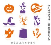 halloween simple icons | Shutterstock .eps vector #110133749