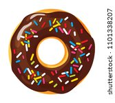 colorful donut on white... | Shutterstock .eps vector #1101338207