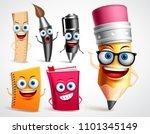 school characters vector... | Shutterstock .eps vector #1101345149