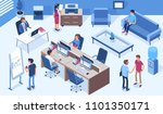 coworking office concept  with... | Shutterstock .eps vector #1101350171