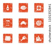 love song icons set. grunge set ... | Shutterstock .eps vector #1101352841