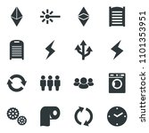 black vector icon set washer... | Shutterstock .eps vector #1101353951