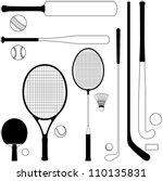 sport collection   vector... | Shutterstock .eps vector #110135831