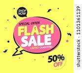 flash sale  banner design...   Shutterstock .eps vector #1101361139