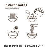 instruction how to prepare... | Shutterstock .eps vector #1101365297