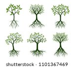 set of green trees with naked... | Shutterstock .eps vector #1101367469