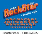 rock star   decorative modern... | Shutterstock .eps vector #1101368027
