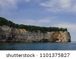 pictured rocks national park on ... | Shutterstock . vector #1101375827