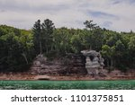 pictured rocks national park on ... | Shutterstock . vector #1101375851