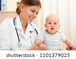 portrait of female doctor... | Shutterstock . vector #1101379025