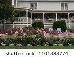 beautiful garden fence in...   Shutterstock . vector #1101383774