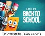 school characters vector... | Shutterstock .eps vector #1101387341