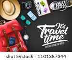 it's travel time typography... | Shutterstock .eps vector #1101387344