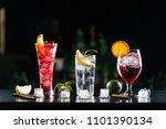multi colored alcoholic... | Shutterstock . vector #1101390134
