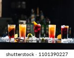 multi colored alcoholic... | Shutterstock . vector #1101390227