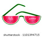 hello summer text and red... | Shutterstock .eps vector #1101394715
