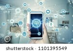 smart house concept.... | Shutterstock . vector #1101395549