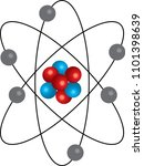 atom with positive and negative ... | Shutterstock .eps vector #1101398639