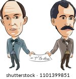 wright brothers  orville ... | Shutterstock .eps vector #1101399851