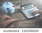finance concept  business man... | Shutterstock . vector #1101400334