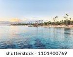 sun set at bayahibe beach  la...   Shutterstock . vector #1101400769