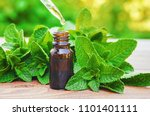 The Mint Extract In A Small Ja...