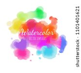 vector watercolor background.... | Shutterstock .eps vector #1101401621