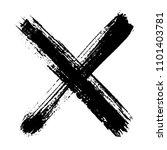 grunge x.vector x mark. | Shutterstock .eps vector #1101403781
