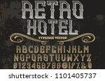 font alphabet script typeface... | Shutterstock .eps vector #1101405737