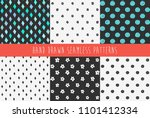 set of abstract hand drawn... | Shutterstock .eps vector #1101412334